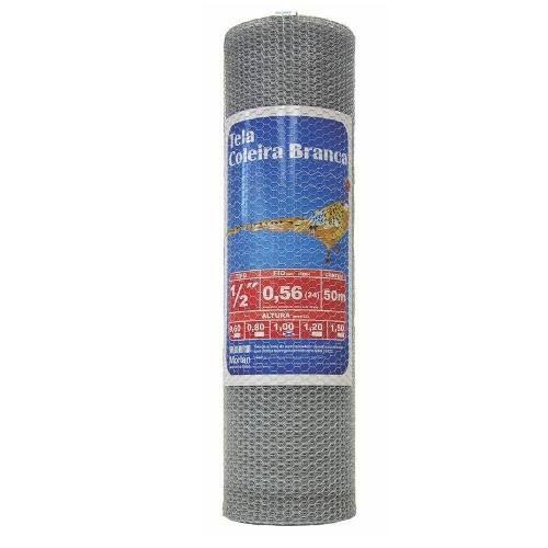 Tela De Arame Galvanizada Viveiro 80cm X 50 Mt