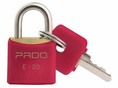Cadeado Pado Color 20mm Vermelho