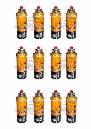 Gás Butano Kit Com 12 Refil 227g Fogareiro Portatil
