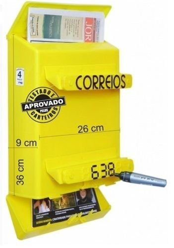 Caixa De Correios correspondência Master Para Grade 36x26cm