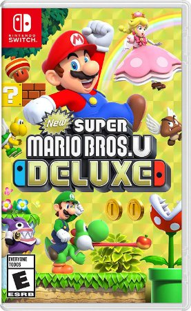 Jogo New Super Mario Bros U Deluxe - Switch Mídia Física