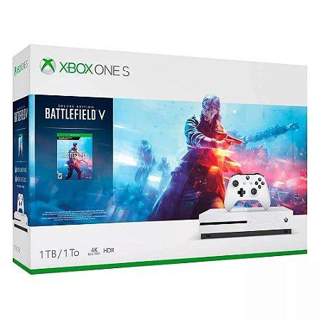 Video Game Console Xbox One S 1 Tb 4k + Battlefield V - Cor Branca