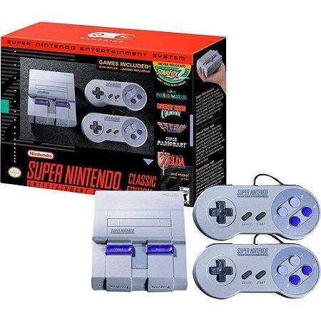 Snes Classic Edition Super Nintendo Mini Original  2 Controles  21 Jogos na Memória