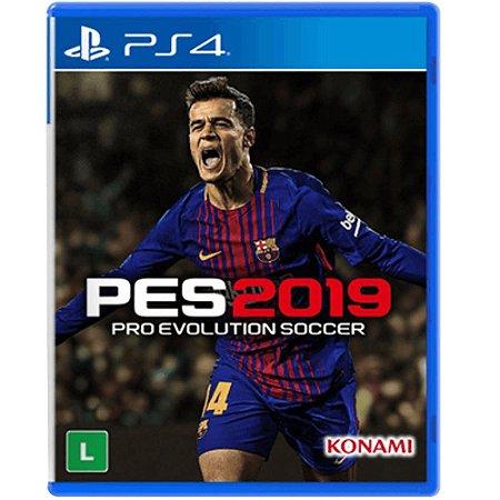 Jogo PES 2019 - Playstation Ps4 Mídia Física