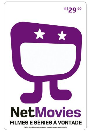Cartão Pré Pago Vale-Presente Netmovies 12 Meses - Gift Card