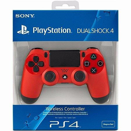 Controle para Video Game PS4 Playstation 4 - Vermelho - Dual Shok 4 - Original Sony