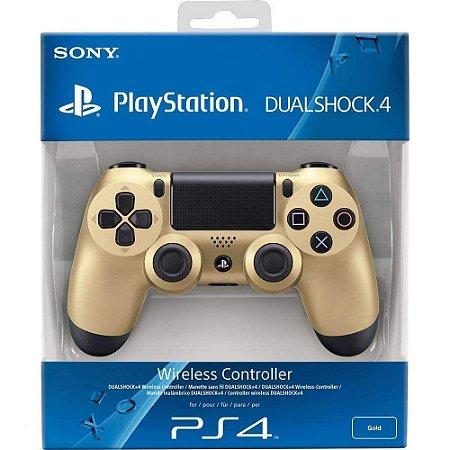 Controle para Video Game PS4 Playstation 4 - Dourado - Dual Shok 4 - Original Sony