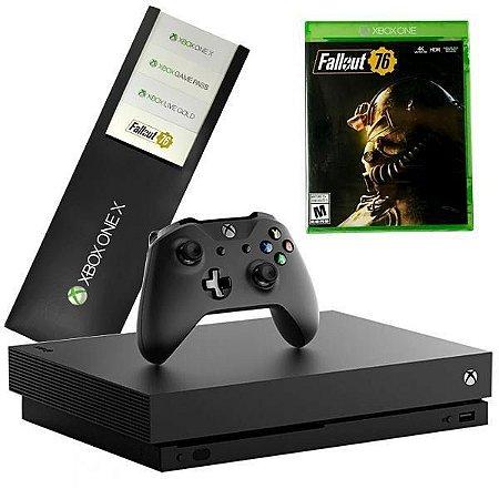 Video Game Xbox One X Edição Fallout 76 1TB - 4K Ultra HD Nativo