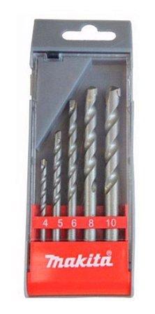 Jogo De Brocas Para Concreto 4 A 10mm Makita 5 Pcs