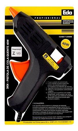 Pistola De Cola Quente 40w 11mm Eda 3kn