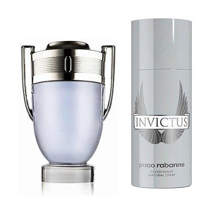 Kit Invictus Paco Rabanne Eau de Toilette 100ml + Desodorante 150ml