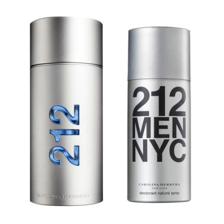 Kit 212 Men Carolina Herrera Eau de Toilette 100ml + Desodorante 150ml