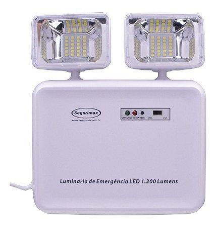 Luminária Luz Lâmpada De Emergência Led 2 Faróis 1200 Lumens