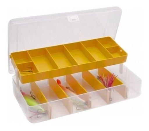 Caixa Organizadora Plástico Transparente 14 Divisórias