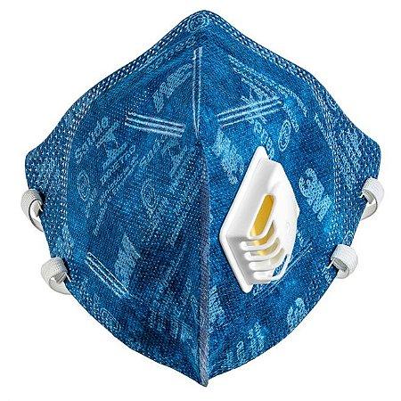 1 Mascaras Respiradora Pff2 Valvulada Proteção Filtro - 3M -  Modelo 9822