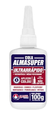Cola Almasuper 100g Adesivo Instantâneo Ultra Rápido