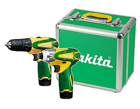 Parafusadeira Furadeira Bateria Kit Dk1493br Makita Bivolt