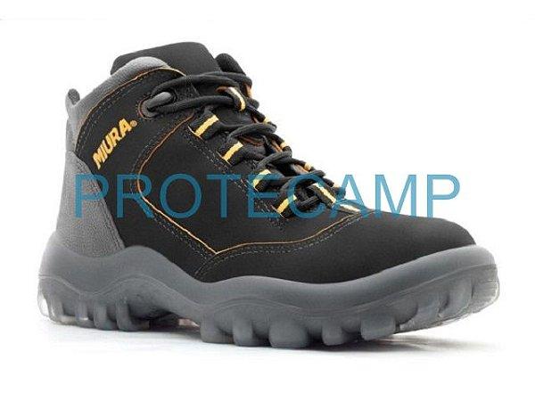 4835GL/NB/PRA. - BOTINA NOBUCK PREMIUM SAFETLINE BICO DE PVC - PRETA