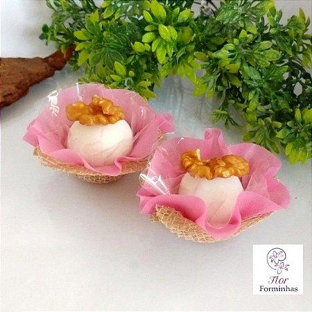 50 Formas Rusticas para doces- Rosa Goiaba -F025