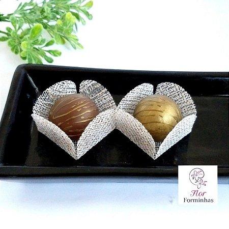 50 Formas para doces - Caixeta Branco Fio Dourado -F002