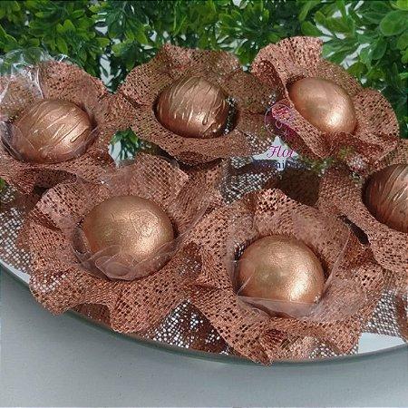 50 Forminhas Cestaflor Rose Gold/ Bronze - F000