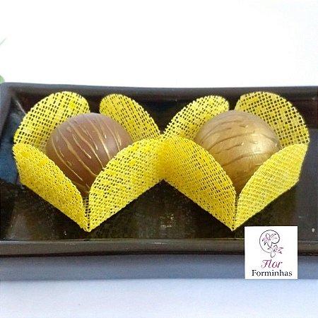 50 Formas para doces - Caixeta Amarelo -F002