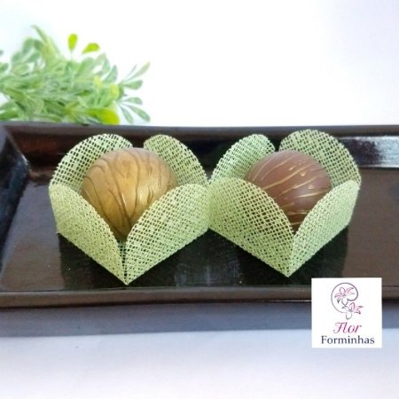 50 Formas para doces - Caixeta Verde Menta -F002