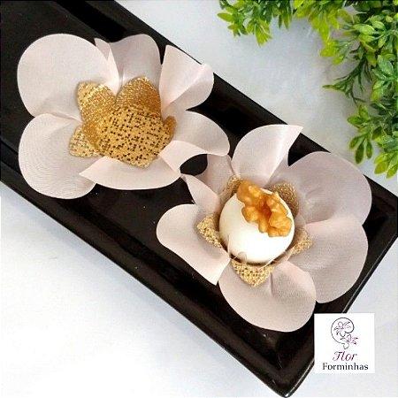 50 Forminhas Primavera Tafeta Rosa Bebe- F005