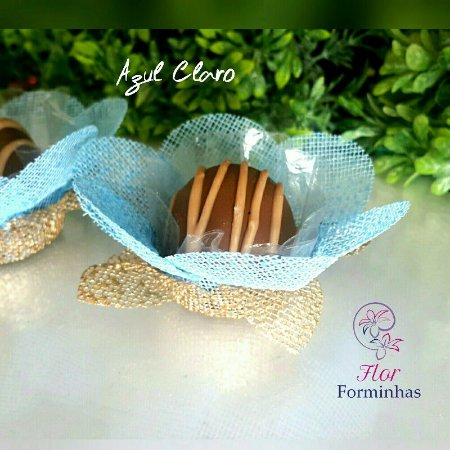 50 Forminhas Primavera G Azul Bebe- F006