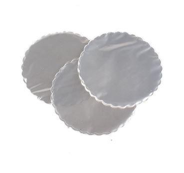 Tapetinho Transparente Redondo 7cm - 100 un