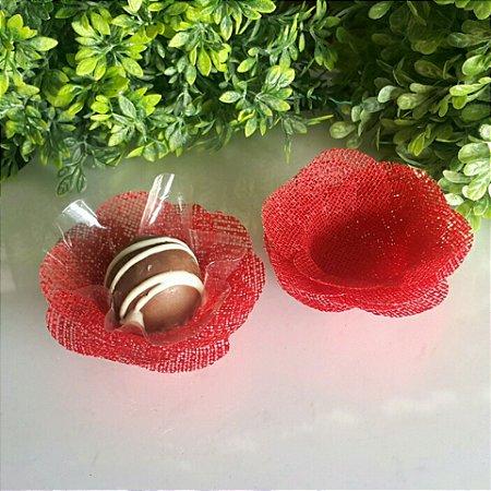 50 Formas para doces Camelia Vermelho- F011