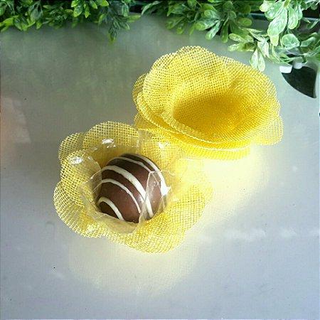 50 Formas para doces Camelia Amarelo- F011