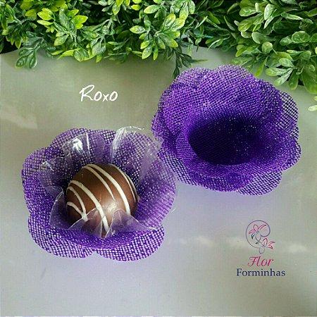 50 Formas para doces Camelia Roxo F011