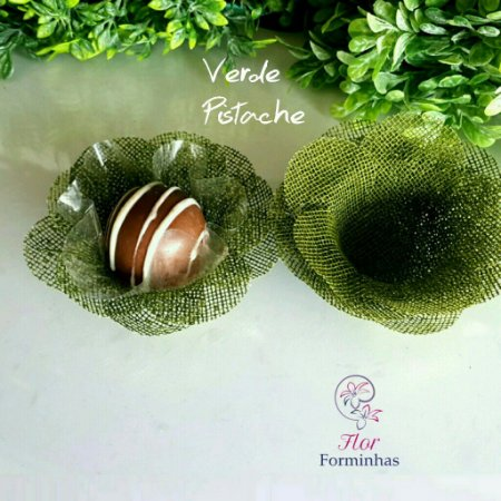 50 Formas para doces Camelia Verde Pistache F011