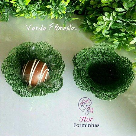 50 Formas para doces Camelia Verde Floresta F011