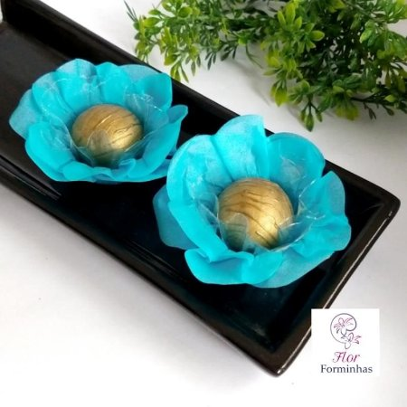 50 Forminhas Flor Primavera Papel Tifany - F012