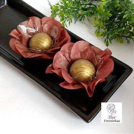 50 Forminhas Flor Primavera Papel Chocolate  F012