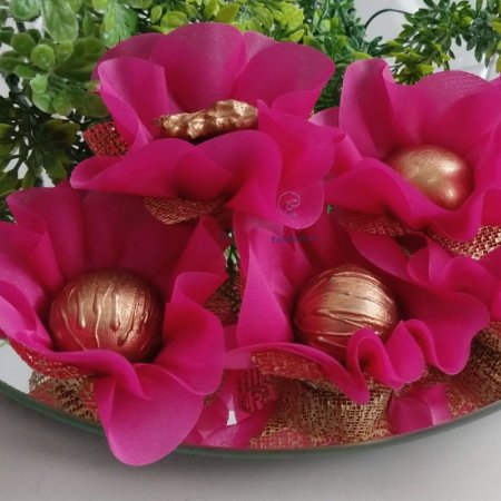 25 Forminhas Flor Primavera Rosa Primavera F016