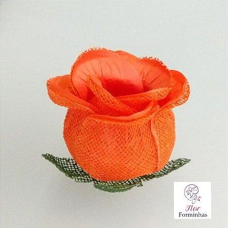 25 Forminhas para doces Flor Botão Rosa- Laranja F044
