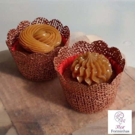 30 Saia para MINI Cupcake em tela Bronze B008