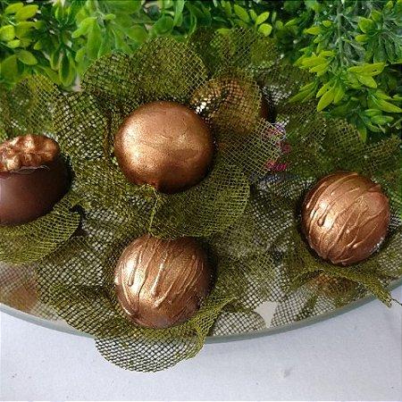 50 Forminhas Flor 4 Coracoes Verde Pistache - F056