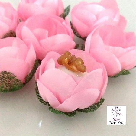 25 Formas para doces - Botão Camelia Rosa bb - F063