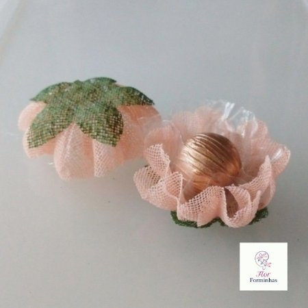 25 Forminhas para doces Gerbera  Rosa Nude- F065