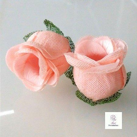 25 Forminhas para doces Flor Botão Rosa - Rosa Nude  F044