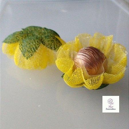 25 Forminhas para doces Gerbera - Amarelo - F065