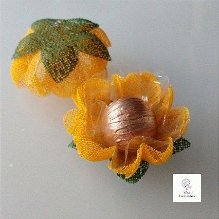 25 Forminhas para doces Gerbera - Amarelo Ouro - F065