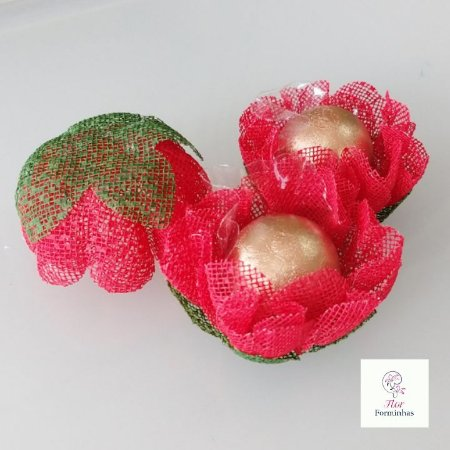 25 Forminhas para doces Gerbera -Vermelho - F065