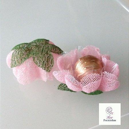 25 Forminhas para doces Gerbera -Rosa Bebê - F065