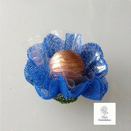 25 Forminhas para doces Gerbera - Azul Royal - F065