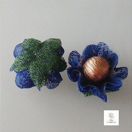 25 Forminhas para doces Gerbera -Azul Escuro - F065